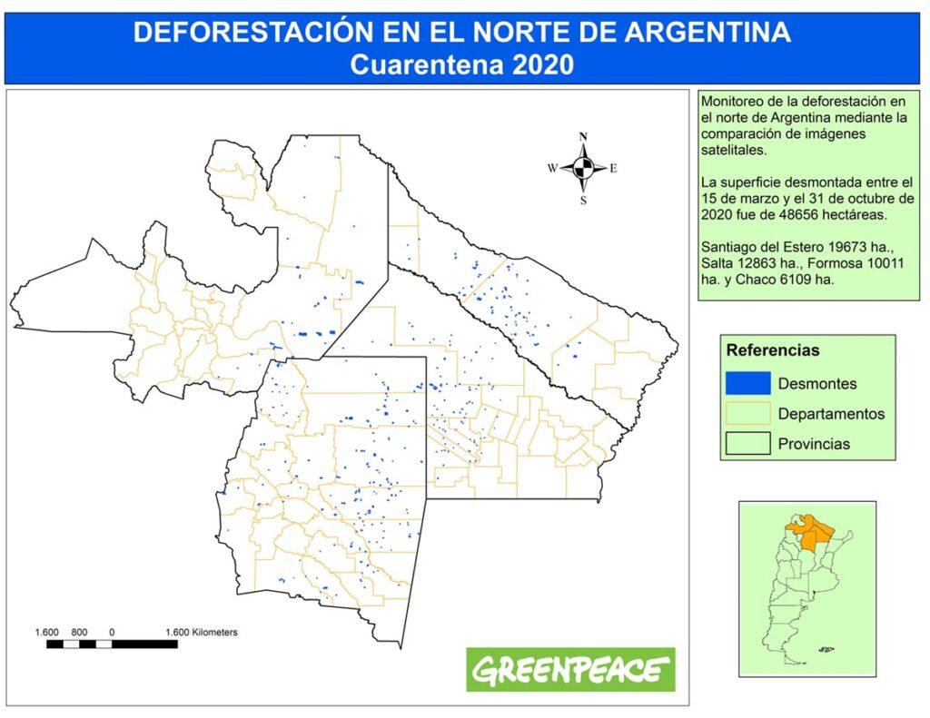 Deforestación en el norte Argentino durante la pandemia