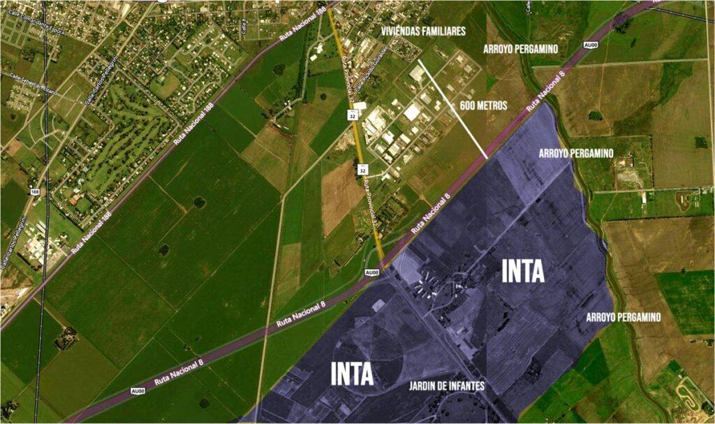 Area de fumigación con agrotóxicos en el INTA de Pergamino
