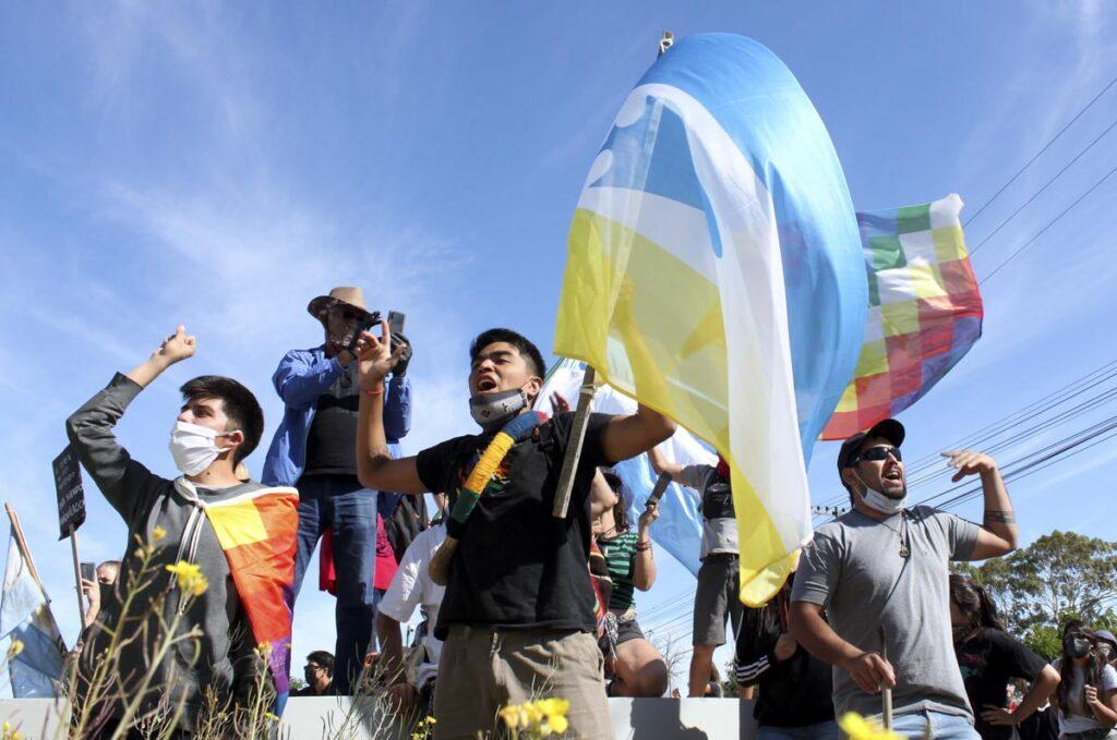 Marcha en la ciudad de Rawson, Chubut. 24-11-2020