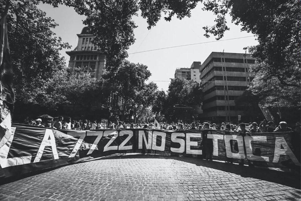 Aniversario de la marcha por el agua en la ciudad de Mendoza