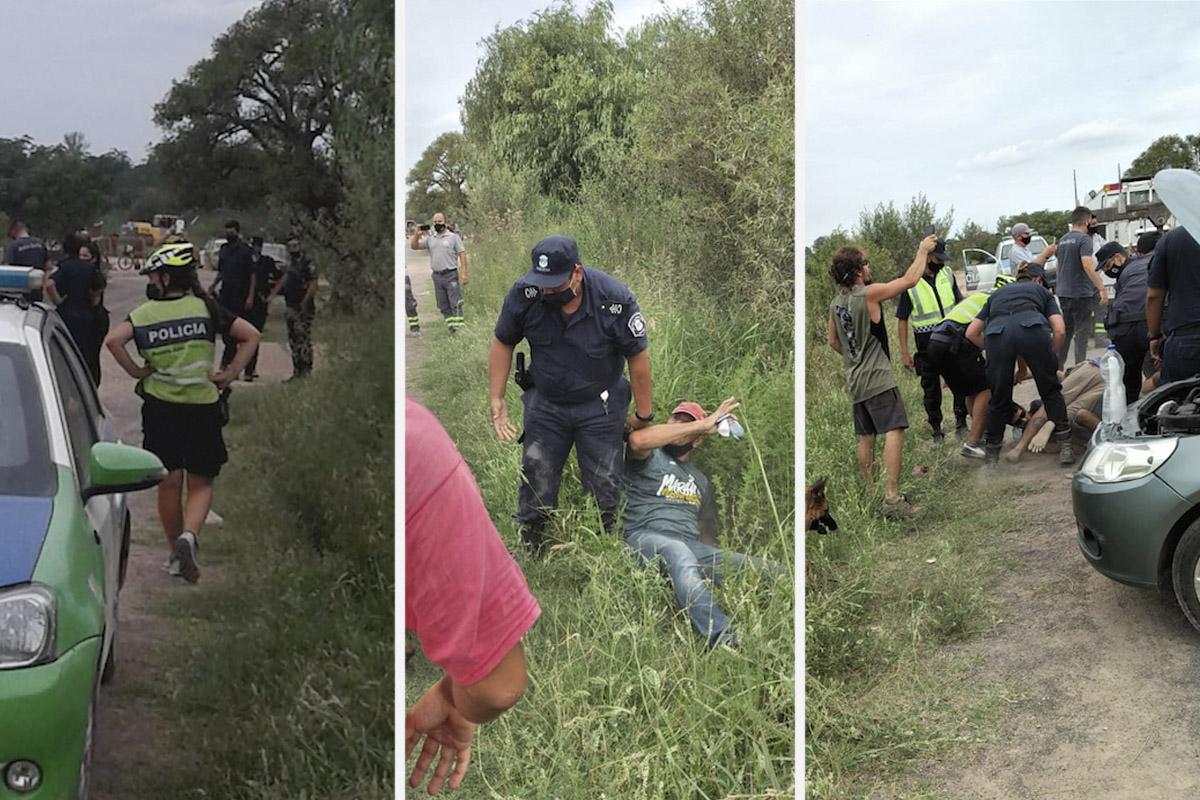 Detenciones en Parque Aguilar, San Nicolás