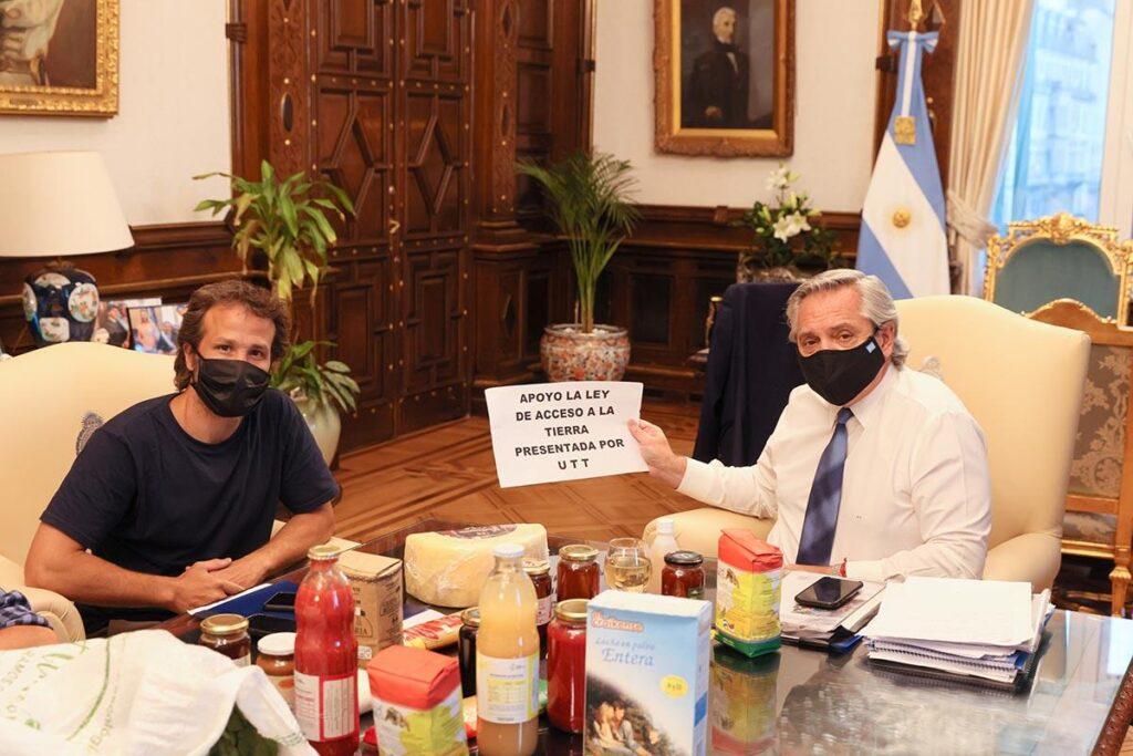 Alberto Fernandez y encuentro con organizaciones campesinas, UTT, MNCI, FECOFE