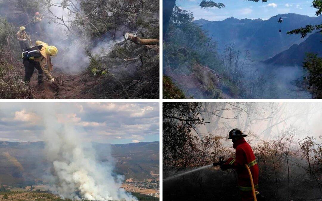 """Incendios en El Bolsón: """"El fuego seguirá activo por más tiempo"""""""