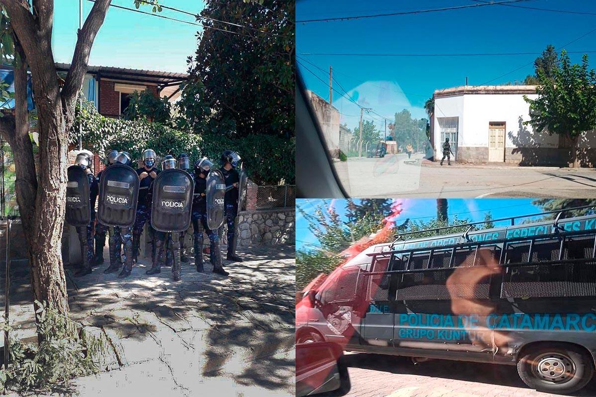 Allanamientos y detenciones en Andangalá