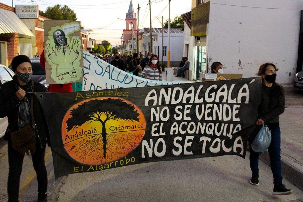 Lucha contra minería en Andangalá, Catamarca