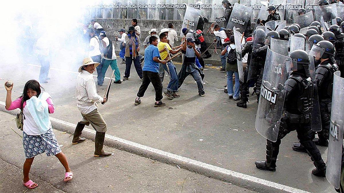Protestas en las calles de Colombia
