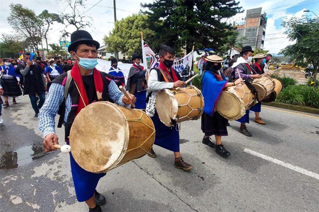Protestas en las calles de Colombia. Comunicado campesino