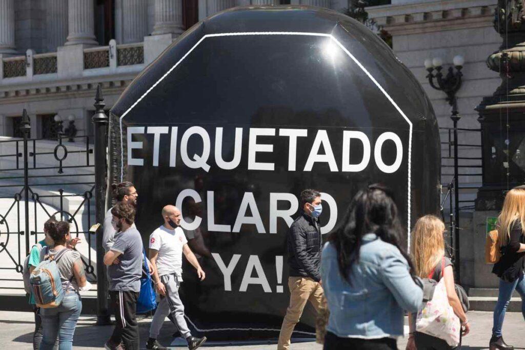 Manifestación para que se trate en el Congreso la ley de etiquetado frontal